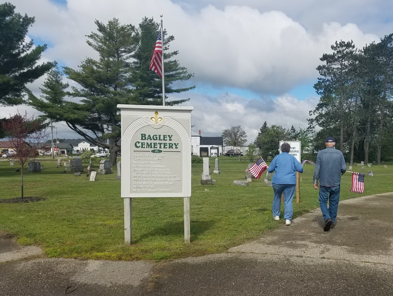 Bagley Cemetery filled by Jim and Polly 2017