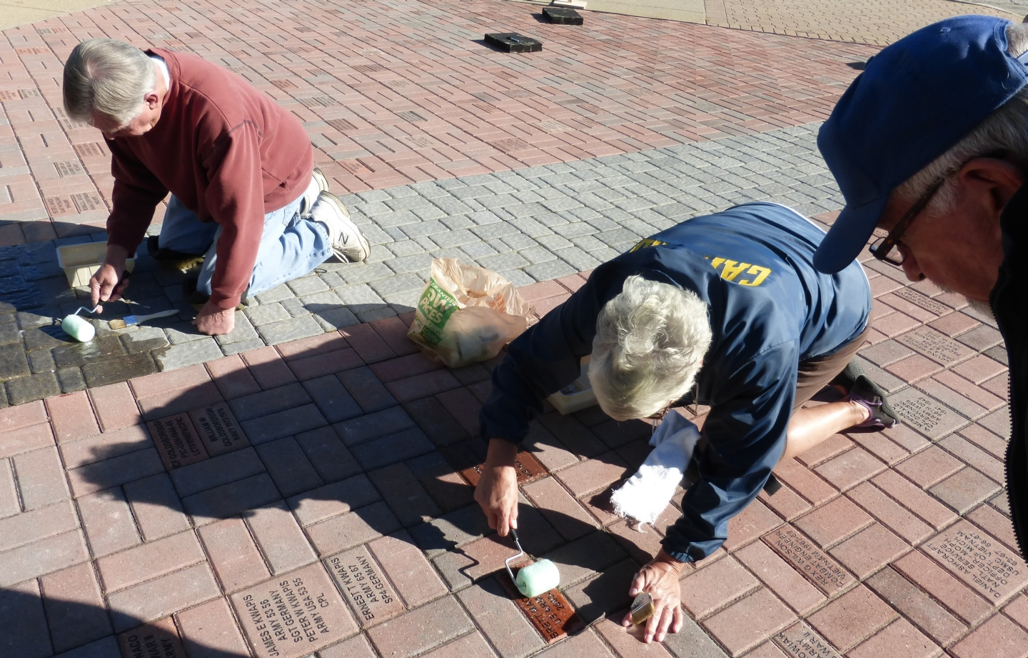 Fund raising pavers are sealed annually to preserve them.