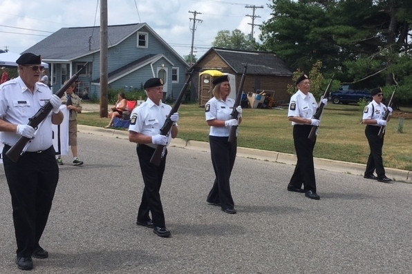In the Color Guard, Alpenfest Parade July 2018